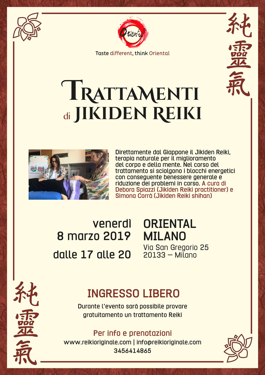 JIKIDEN REIKI®: direttamente dal Giappone,la terapia per il miglioramento fisico e mentale.