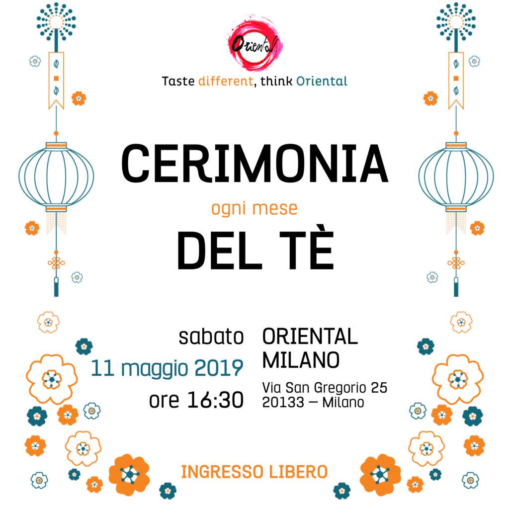 Sabato 11 maggio terzo appuntamento della Cerimonia del tè